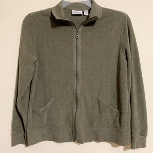 Spa by Chicos Green French Terry Knit Jacket